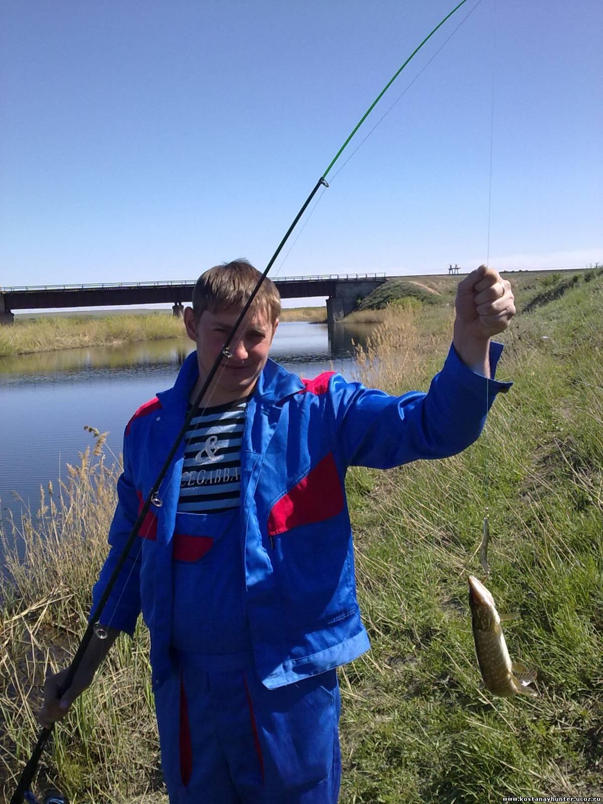 рыбалка во  городе костанай
